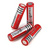 UltraFire 18650 Akkus Li-Ion Wiederaufladbare Batterien...