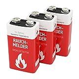 3 ANSMANN Rauchmelder Batterien Lithium 9V - 10 Jahre...