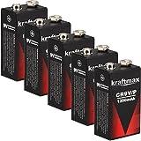 5x Kraftmax 9V Block Lithium Hochleistungs- Batterien...