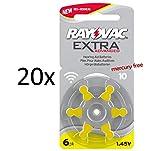 120 Rayovac Extra Advanced Nr 10 Hörgerätebatterie...