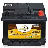 Autobatterie 12 V / 44 Ah - 360 A/EN 54465 Adler ers....