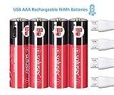 Wiederaufladbare AA Akku Batterien, Wiederaufladbare...
