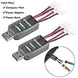 2pcs CX405 1S LiPo Batterie USB-Aufladeeinheit 4.2V...
