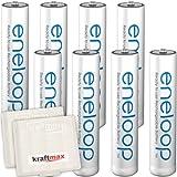 Kraftmax 8er-Pack Panasonic Eneloop AAA/Micro Akkus -...