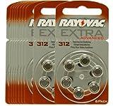 Rayovac Extra 312 Batterien für die Hörgeräte PR41,...