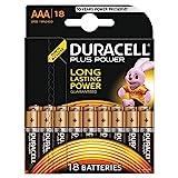 Duracell Plus Power Typ AAA Alkaline Batterien, 18er...