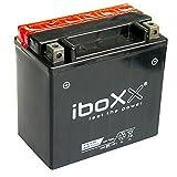 Iboxx Motorrad Batterie YTX14-BS, 12 Volt, 12 Ah, AGM...
