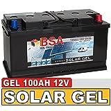 BSA Solarbatterie Gel Batterie 100Ah 12V Blei Gel Akku...
