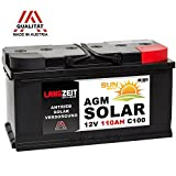 Solarbatterie 12V 110AH AGM Gel Batterie Wohnmobil...