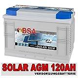 Solarbatterie 120AH 12V AGM GEL Batterie Wohnmobil...