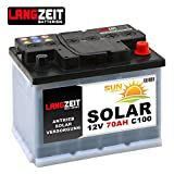 Solarbatterie 70Ah 12V Wohnmobil Boot Camping Schiff...
