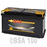 BSA Autobatterie 12V 100Ah Starterbatterie ersetzt 88Ah...