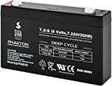 SIGA Batterien AGM Phaeton Deep Cycle (7.2Ah, 6V)...