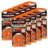 60 x ANSMANN Hörgerätebatterien/10x6er Packung Zink...