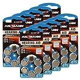 60 ANSMANN Hörgerätebatterien/10x6er Packung Zink...
