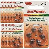 Hörgerätebatterie in der Größe 13 EarPower | Gelbe...