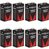 8x Kraftmax Lithium 9V Block Hochleistungs- Batterien...