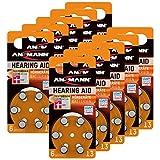 ANSMANN Hörgerätebatterien 13 orange Testsieger 60...