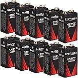 10x Kraftmax 9V Block Lithium Hochleistungs- Batterien...
