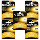 5 x Duracell 377 1.5v Silver Oxide Watch Battery...