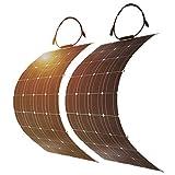 DOKIO 2PC Solar Panel 100W Mono Faltbar für 12V...