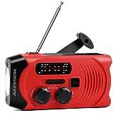 Multifunktion Outdoor Radio,Solar Kurbel Radio für...