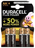 Duracell Plus Power Typ AA Alkaline Batterien, 4er Pack