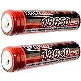 2x Kraftmax 18650 Pro Akku mit PCB Schutzschaltung -...