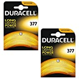 2 x Duracell 377 1.5v Silver Oxide Watch Battery...