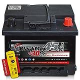 BlackMax+30% - 12 V / 45 Ah - 420 A/EN Autobatterie KFZ...