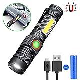 Karrong Taschenlampe LED Magnet USB Wiederaufladbar,...