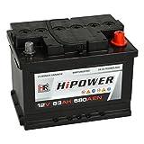 HR HiPower Autobatterie 12V 63Ah 580A/EN...