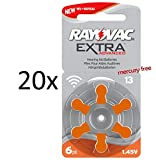 120 Rayovac Extra Advanced Nr 13 Hörgerätebatterie...