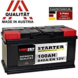 LANGZEIT Autobatterie 12V 100AH ersetzt 88Ah 90Ah 92Ah...