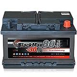 Autobatterie 80Ah +30% mehr Leistung Starterbatterie...