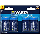 Varta Longlife Power Batterie D Mono Alkaline Battere...