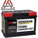LANGZEIT Autobatterie 12V 77AH 720A/EN +30% mehr...