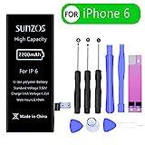Akku für iPhone 6 2200mAh, SUNZOS hohe Kapazität mit...
