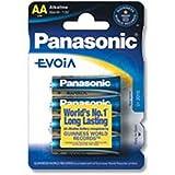 Panasonic 4 AAA Evoia Alkali 1.5V Nicht...