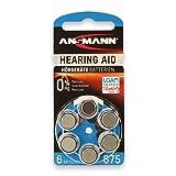 6 ANSMANN Hörgerätebatterien/6er Packung Zink Luft...