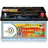 Verbraucherbatterie EFB 12 V 90 Ah Photovoltaik Boot...