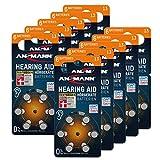 ANSMANN Typ 13 Hörgerätebatterien Orange 60 Stück -...