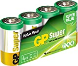 GP Battery 03014AS4 Super Alkaline C Baby 4er Pack