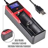 UltraFire 18650 Akku Ladegerät LCD Batterien...