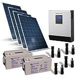 Photovoltaik Kit 1KW 24V Pro Solarmodul Laderegler...