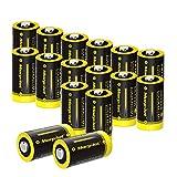 Batterien CR123A / CR123, 16Stück 3V 1500mAh CR17345...