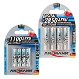 ANSMANN Wiederaufladbar Akku Batterie Kombi-Paket...