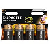 Duracell Plus Power Typ D Alkaline Batterien, 4er Pack