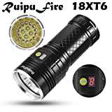 happy event RuipuFire 18 x XM-L T6 LED Batterie...