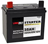 Langzeit Batterie 35Ah 12V Rasentraktor Starterbatterie...